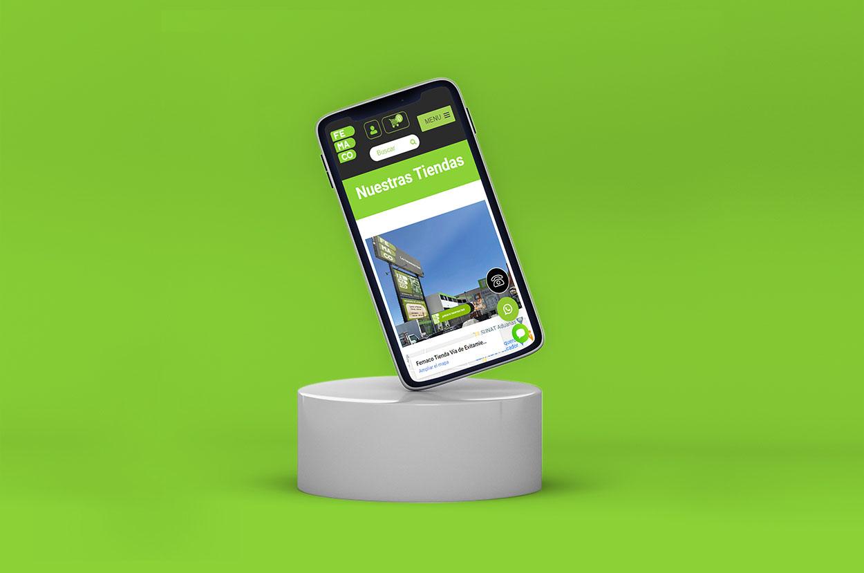 diseño web de tienda virtual Femaco